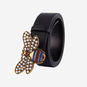 MULTI STRIP BEE STYLE LEATHER BELT