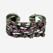 DIAMANTE DRESS RING - PINK