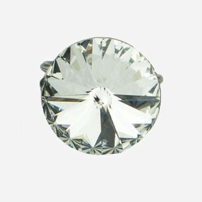 SINGLE ROUND CRYSTAL DRESS RING