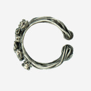 DIAMANTE DRESS RING - SILVER