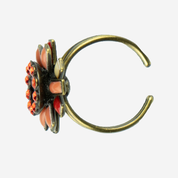 VERMILLION SUNBURST DRESS RING