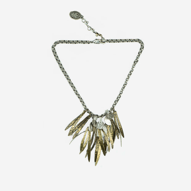 FEATHER MULTI DROP NECKLACE - GOLD