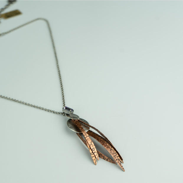 FEATHER DROP NECKLACE - COPPER