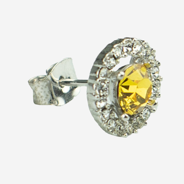 SIMPLY STUNNING STUD EARRING - CITRINE