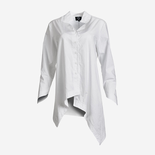 POINTED COTTON WHITE SHIRT