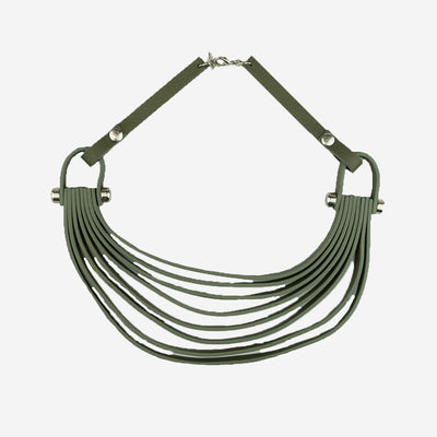 LEATHER COLLAR - GREEN