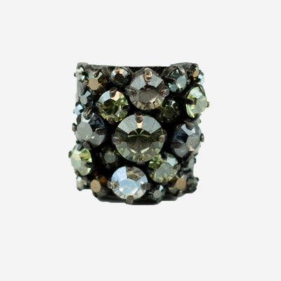 DIAMANTE DRESS RING - NATURAL