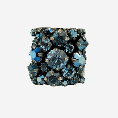 DIAMANTE DRESS RING - CERELEAU BLUE