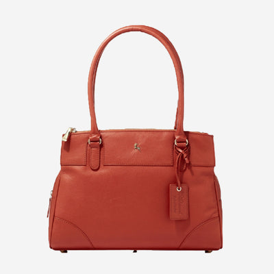 LEATHER TRIPLE HANDBAG