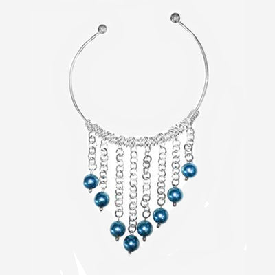 STATEMENT NECK COLLAR WITH STUNNING BLUE BEADS