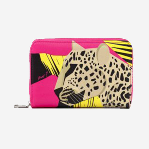 ZIP LEOPARD PURSE