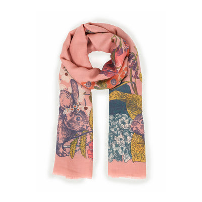 COUNTRYSIDE ANIMALS PRINTED SCARF