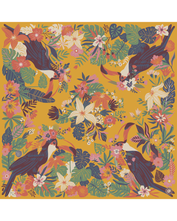 TOUCAN SATIN SQUARE