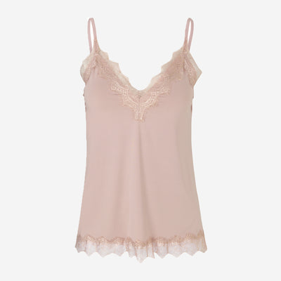 LACE STRAP TOP - BILLIE (POWDER)