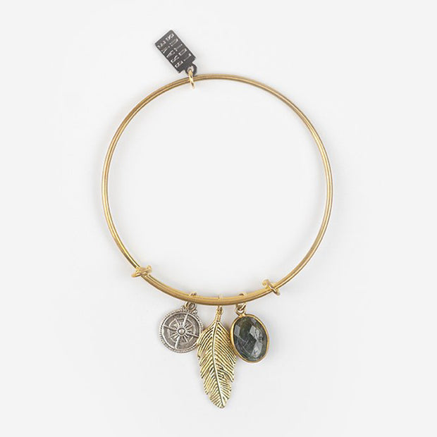 FEATHER IN THE WIND BRACELET - GOLD