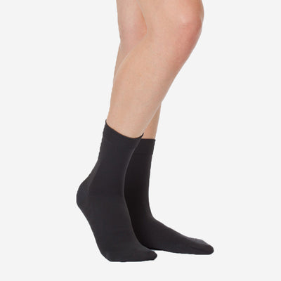 SOCKS PIQUE STRIPE - ANTHRACITE