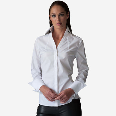COLLARED V-NECK SHIRT