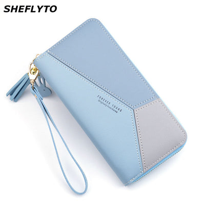 Luxury Leather Wallet Long Zipper Coin