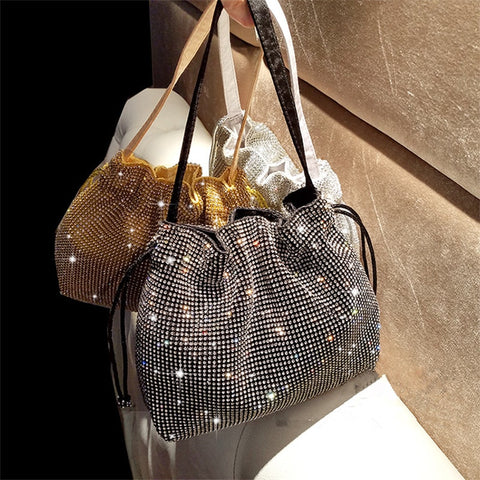 Diamond Handbag Vintage Crystal Design