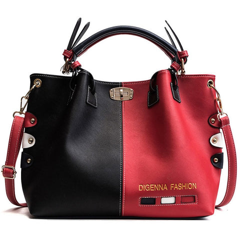 Luxury Handbags Panelled Leather Cross body Bag