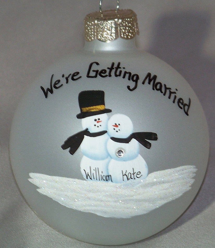Personalized Ornament Celebrating Your Wedding Engagment