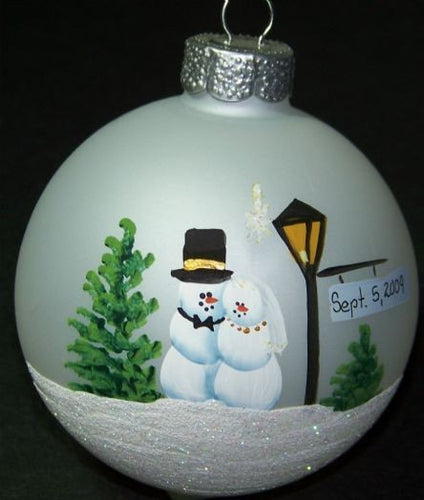 4 in Bride and Groom Personalized Ornament