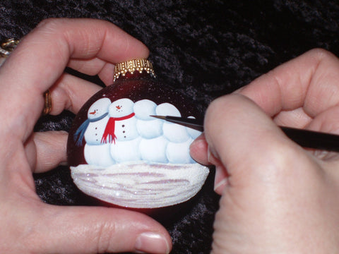 Personalized Family of Four Christmas Ornament