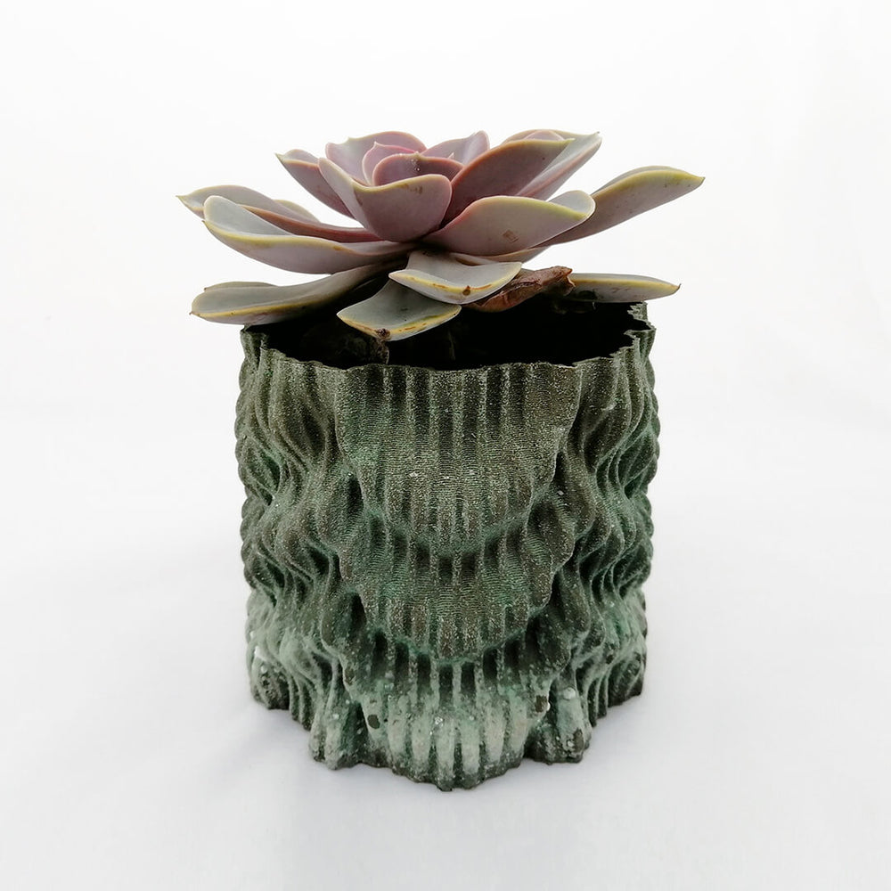 Oxidized Bronze Flower Pot