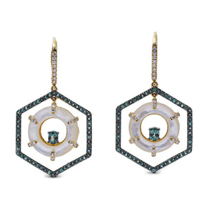Spectra Hexagon Earrings