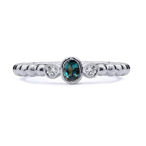 Reverie Ball Shank Ring with Diamonds