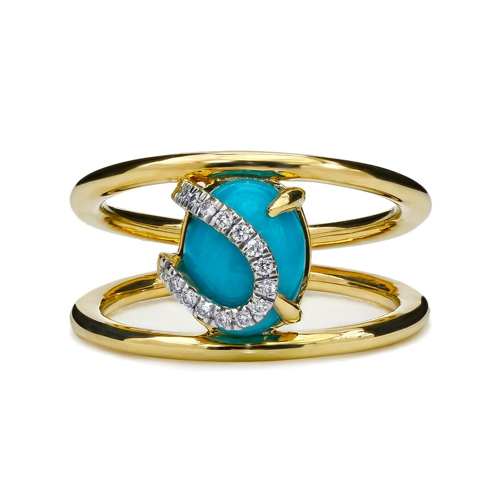 Astro Double Band Ring