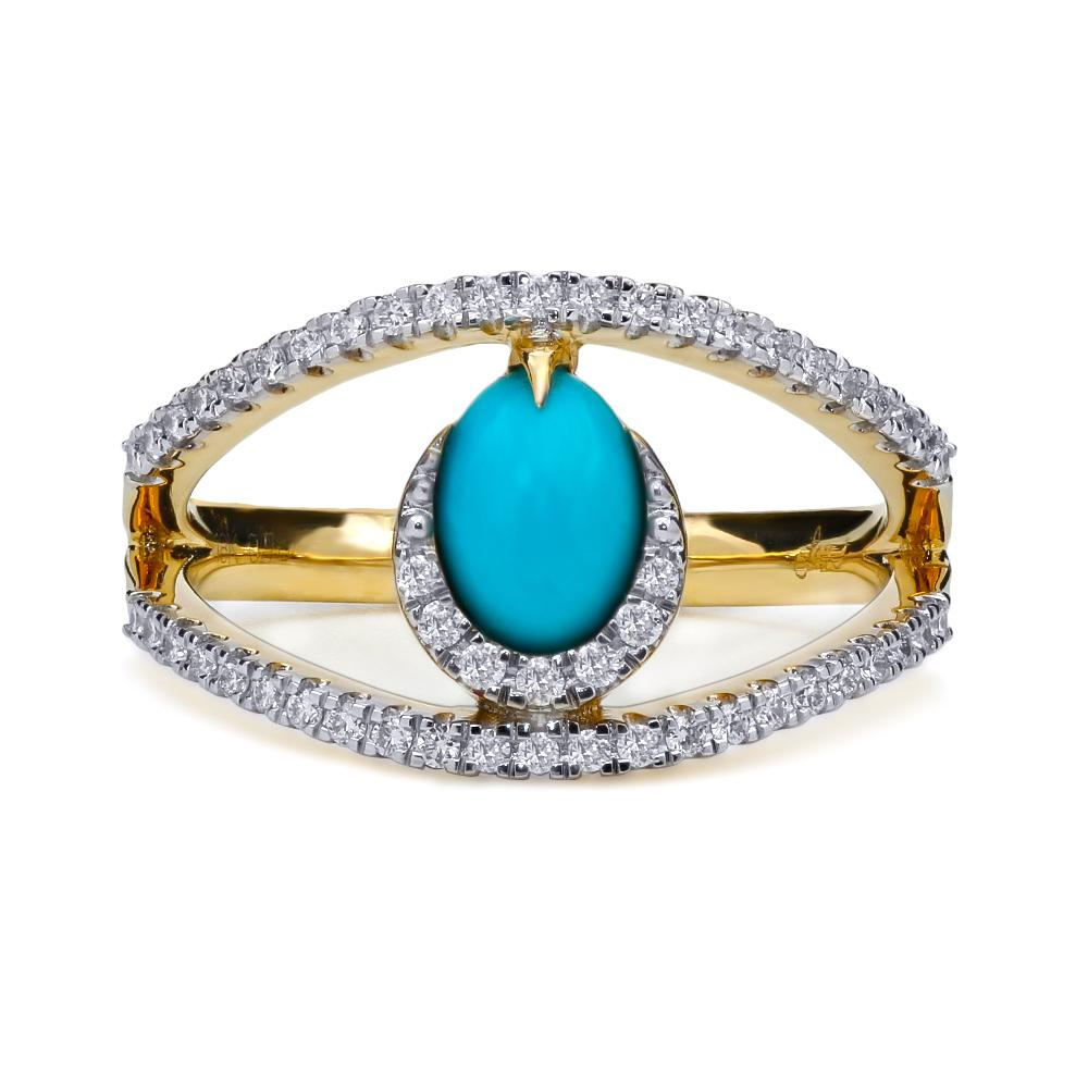 Teardrop Double Band Ring