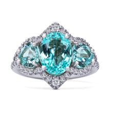 Load image into Gallery viewer, Paraiba Triplet Ring