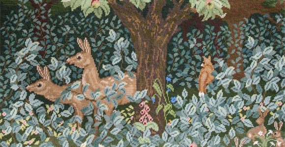Closeup of new Woodland design. Click to find out more.