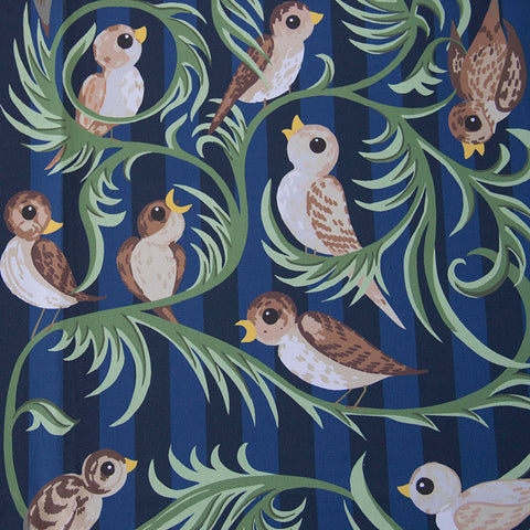 Little Birds Fabric (dark blue)