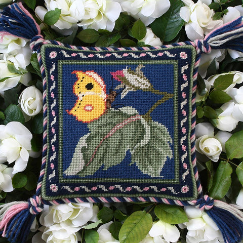 Butterfly miniature needlepoint kit
