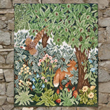 Greenery Fox and Pheasant needlepoint kit