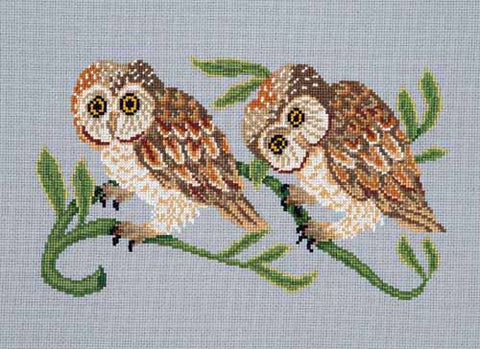 Owls cross stitch chart