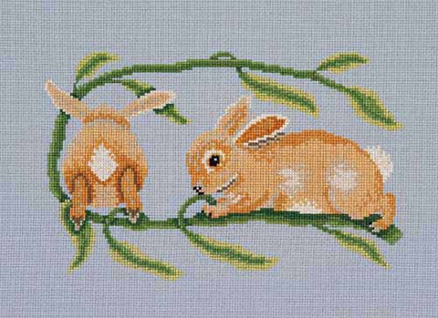 Rabbits cross stitch chart