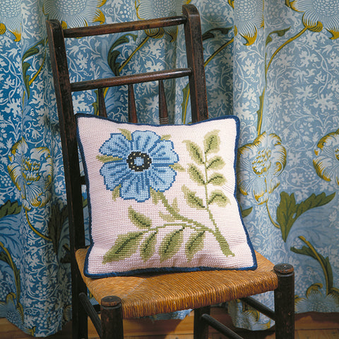 Blue Rose Tile cushion