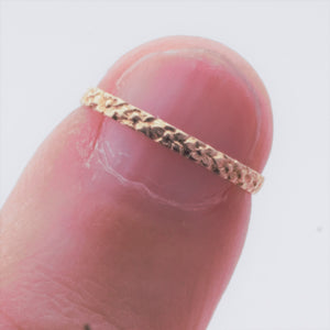 Ring - Estate - 10k Yellow Gold floral baby ring