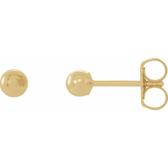 Earrings - 14k Yellow Gold studs - 5mm size