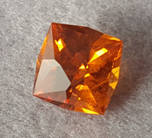 "Load image into Gallery viewer, Gemstone - Garnet, Spessartite ""Mandarin"" variety (hand-cut), 1.90 cts antique square cushion"