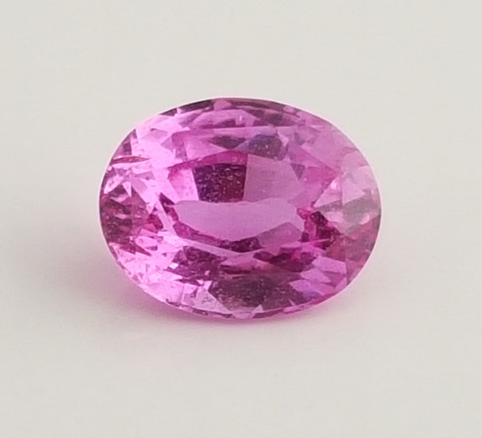 Gemstone - Sapphire, Pink (heated), bright color - 1.19 cts oval