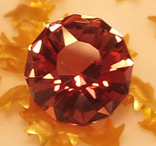Load image into Gallery viewer, Gemstone - Sunstone, red (hand-cut) - 1.37 cts round