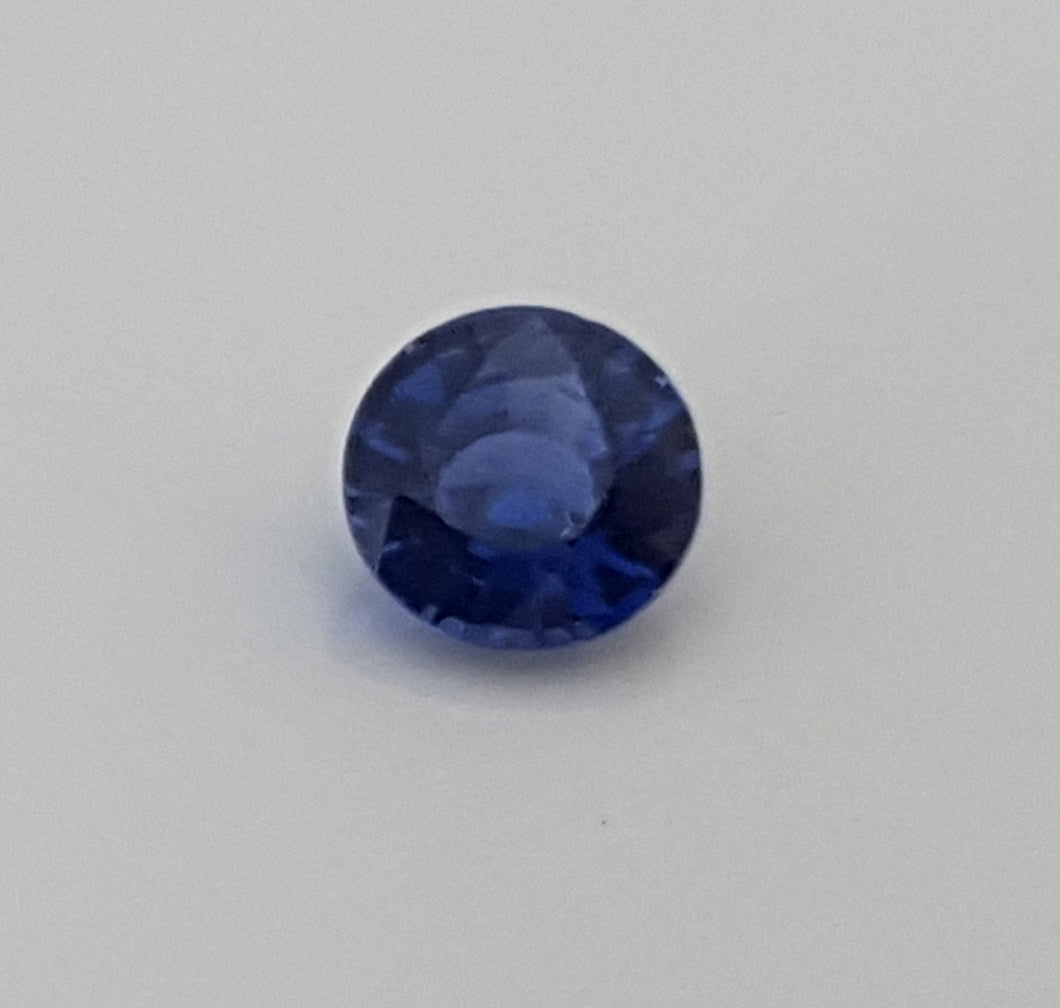 Gemstone - Sapphire, Blue (UNheated), deep color - 0.185 cts round