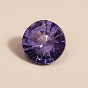Gemstone - Sapphire, Blue (UNheated), light violetish-Blue color - 0.62 cts round