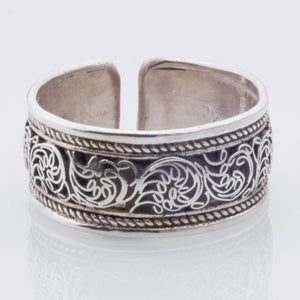 Ring - Estate - Sterling one-size extra-wide band
