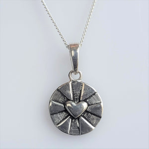 "Necklace - Sterling two-sided ""You are my Sunshine"""