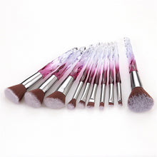 Load image into Gallery viewer, 10 pc Diamond Crystal Makeup Brush Set - Timeless Modern Home